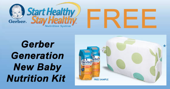 Free Gerber Generation New Baby Nutrition Kit