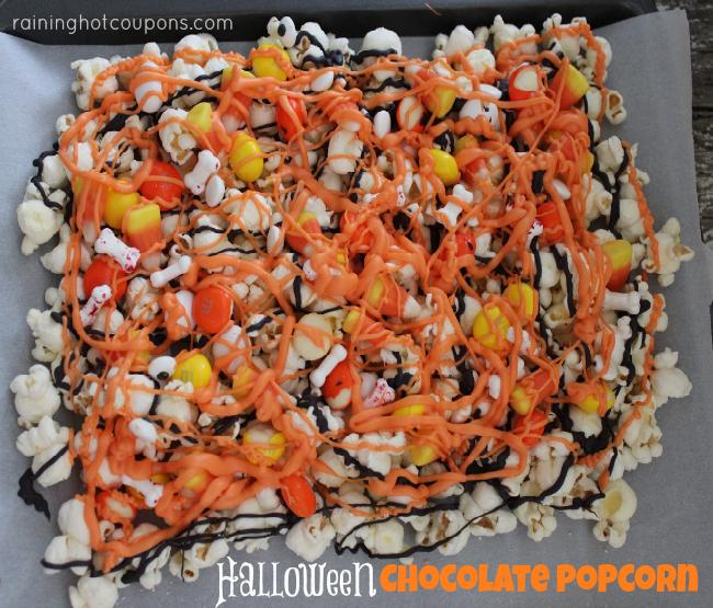 Halloween Chocolate Popcorn