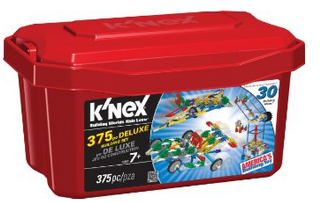 k Amazon: KNEX 375 Piece Deluxe Building Set Only $11.00 (Reg. $19.99)