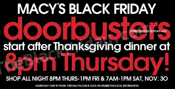 Macy's black friday coupon code