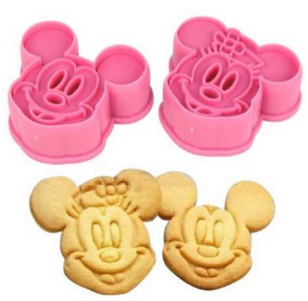 HOT* Mickey and Minnie Mouse Decorating Cookie Cutters 2 PK Only