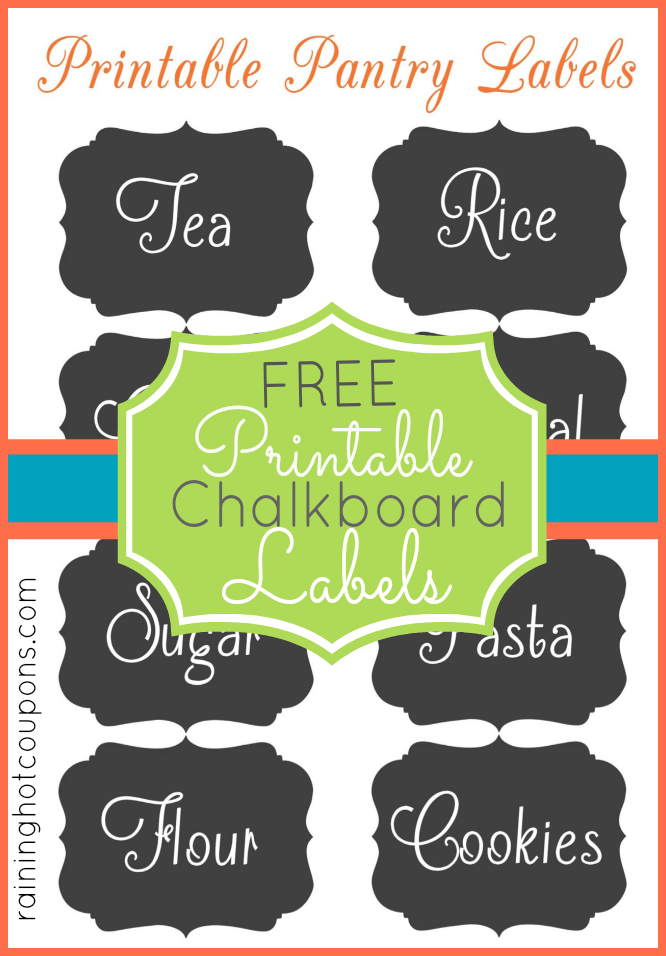 picture relating to Free Chalkboard Printable identify Cost-free Chalkboard Jar Label Printables! (Tremendous Lovable!)