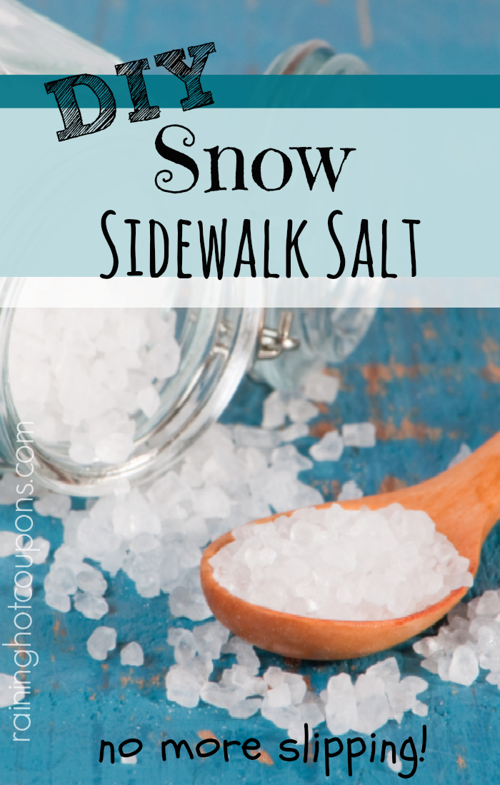 snow salt DIY Snow Sidewalk Salt
