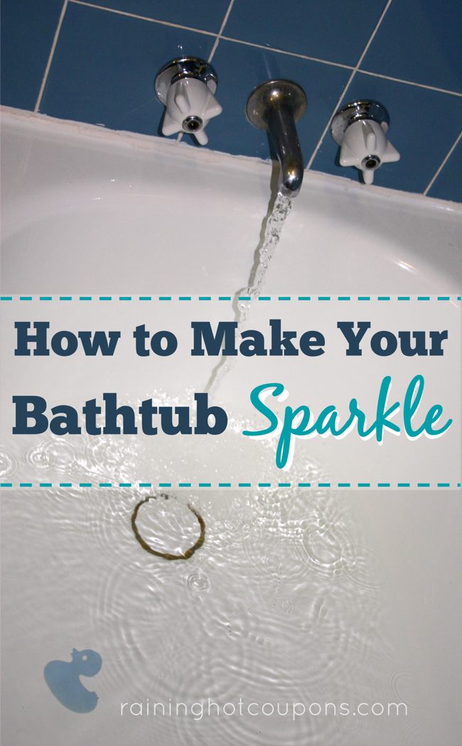 How To Make Your Bathtub Sparkle - this REALLY works and is super easy to do. I do it all the time!