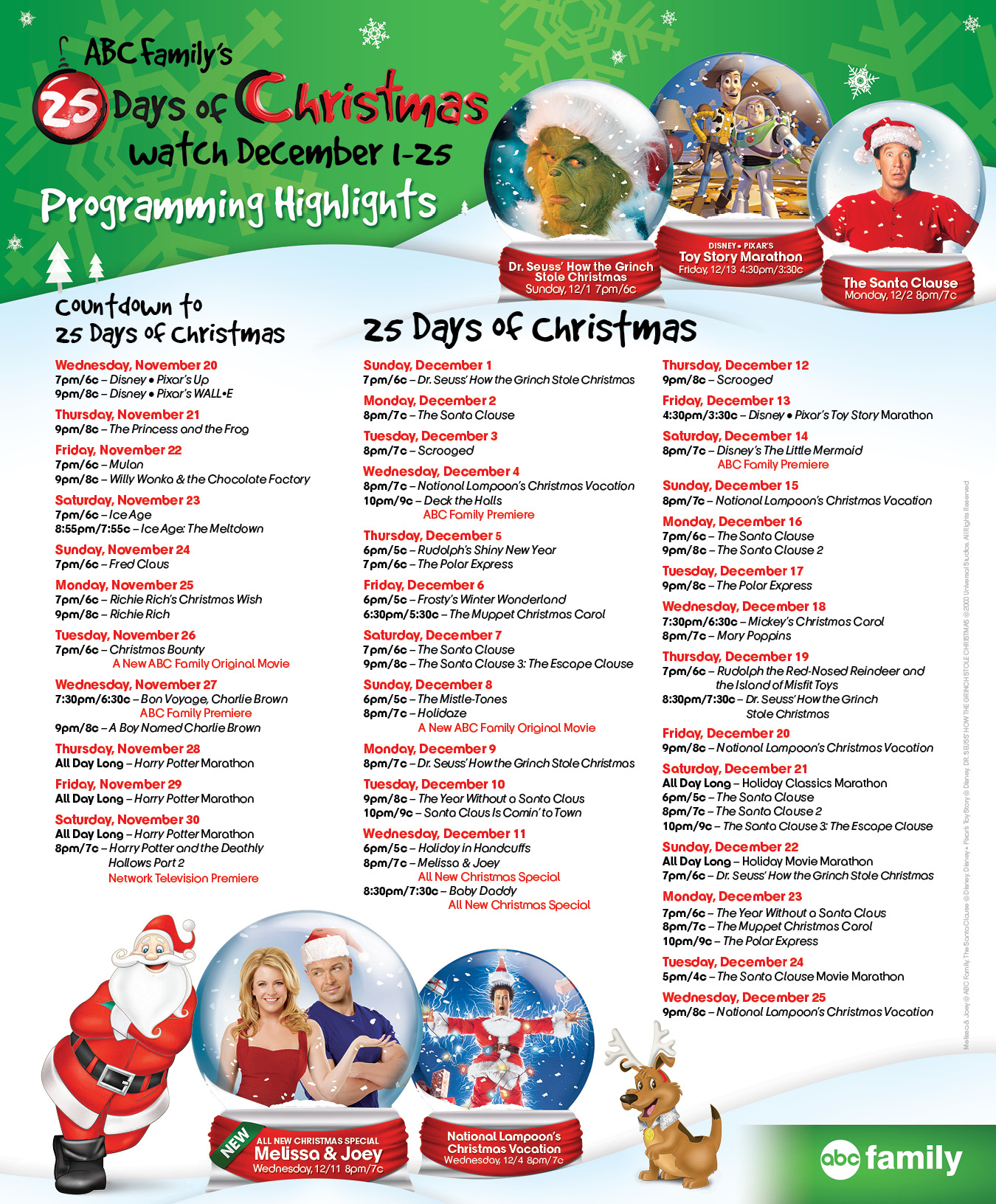 i think last years schedule - Abc 25 Days Of Christmas