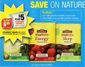 CVS NatureMade CVS: FREE Nature Made VitaMelts + $1.01 Money Maker (Starting 11/17)