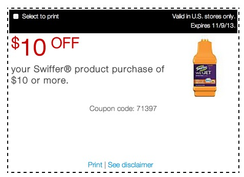 Swiffer online coupons