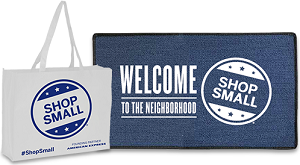 Shop-Small-Welcome-Mat-and-Shopping-Bags