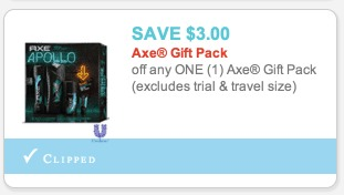 *HOT* $3/1 Axe Gift Pack Coupon = Only $2.99 for a Gift Box! (REG. $9.99)