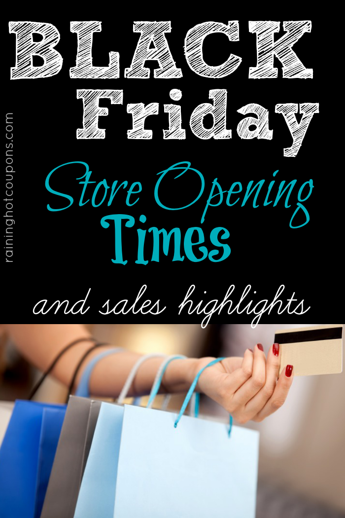 Black Friday Store Opening Times and Sales Highlights