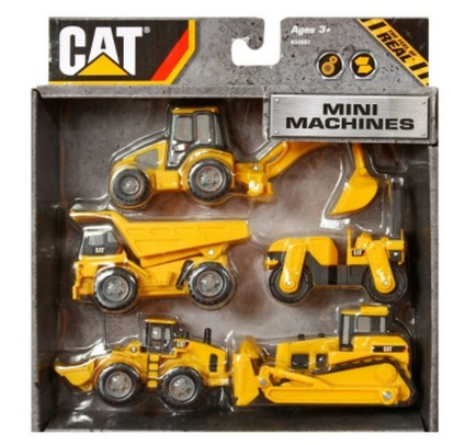 Amazon: *HOT* Toystate Caterpillar Construction Mini Machine 5 Pack Only $5.88 Shipped