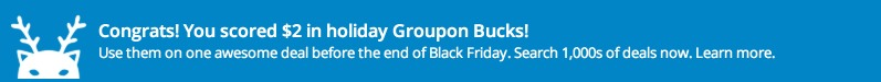 FREE Groupon Credit $1 $500! (I just Got $2.00!)