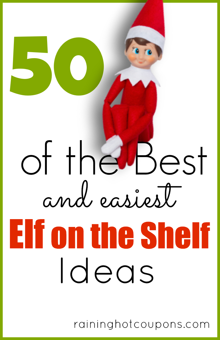 elf on the shelf ideas Elf on the Shelf Ideas with Pictures (Over 50 Creative and Easy Ideas!)