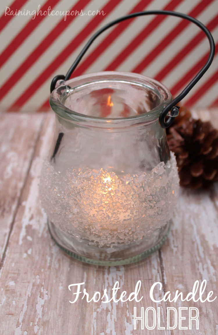 frosted candle holder