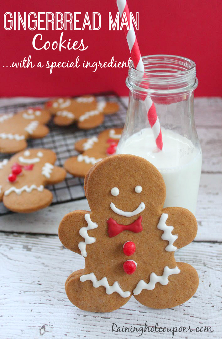Gingerbread Man Cookies (with a Special Ingredient!)