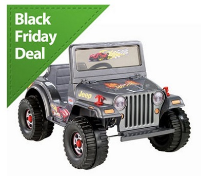 6v Power Wheels Hot Wheels Charcoal Jeep Only $79.99 + FREE Shipping