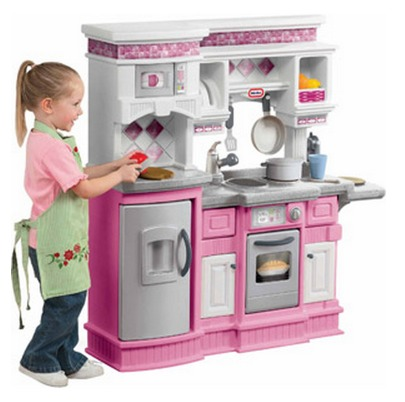 Little tikes gourmet prep n serve kitchen pink toys girl for Little girl kitchen playset