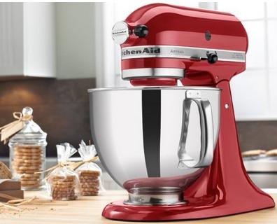 Hot Kitchenaid Artisan 5 Quart Stand Mixer Only 126 99