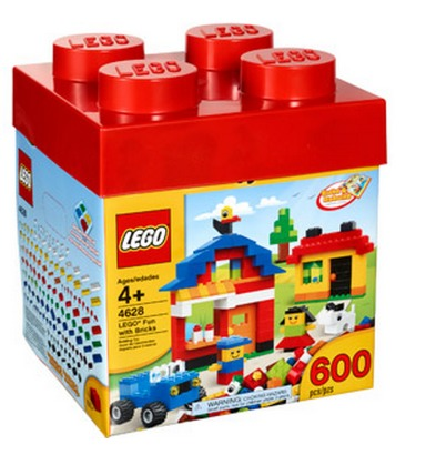 LEGO Fun with Bricks Building Set, 600 pieces ONLY $15!