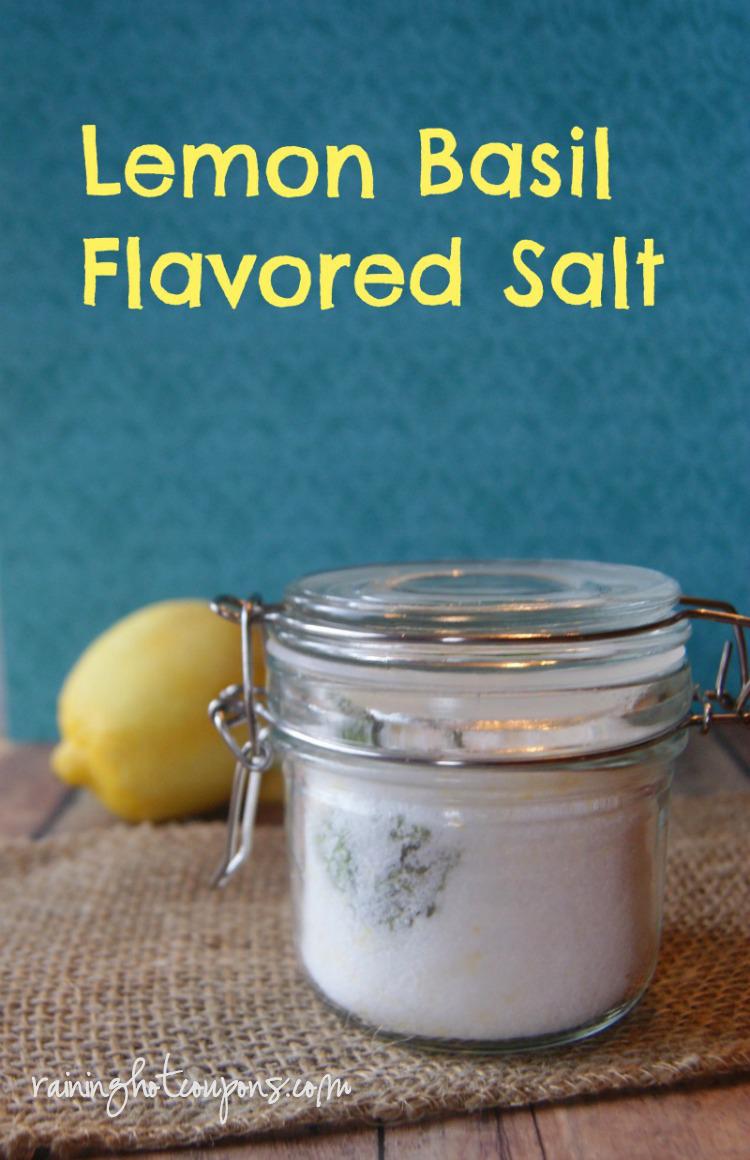 lemon basil flavored salt