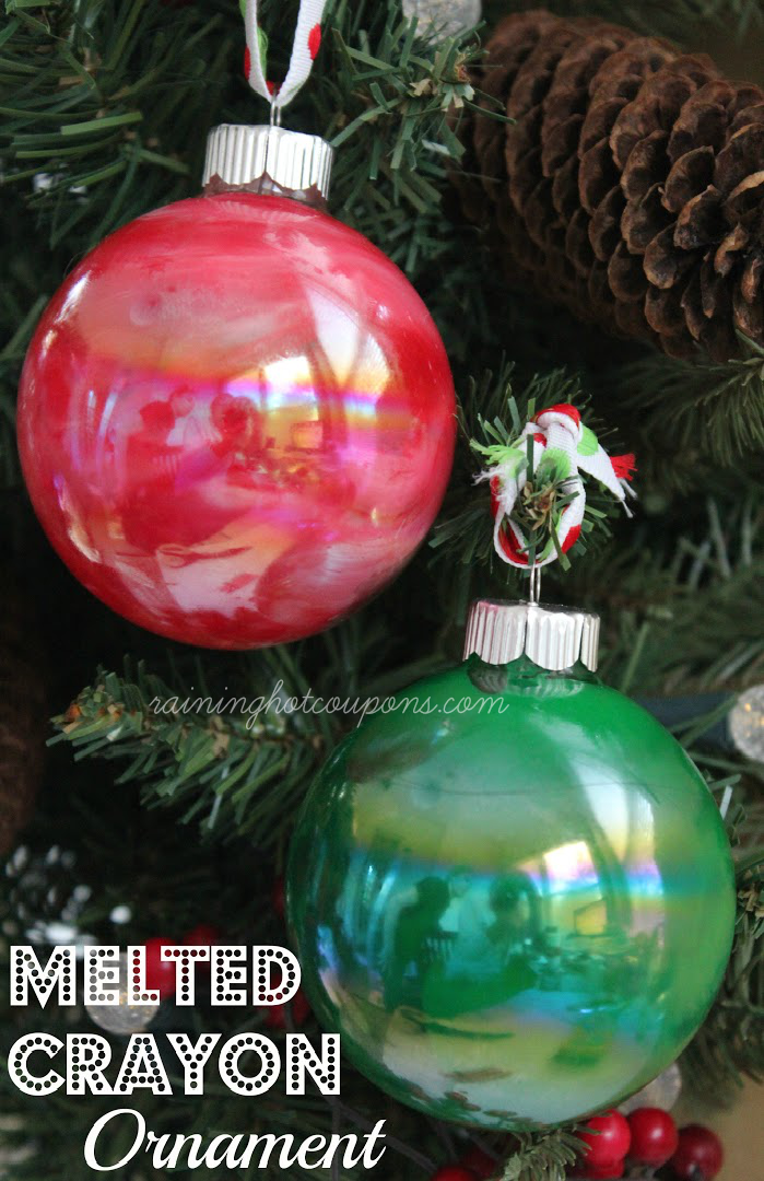 melted crayon ornament  Melted Crayon Ornaments