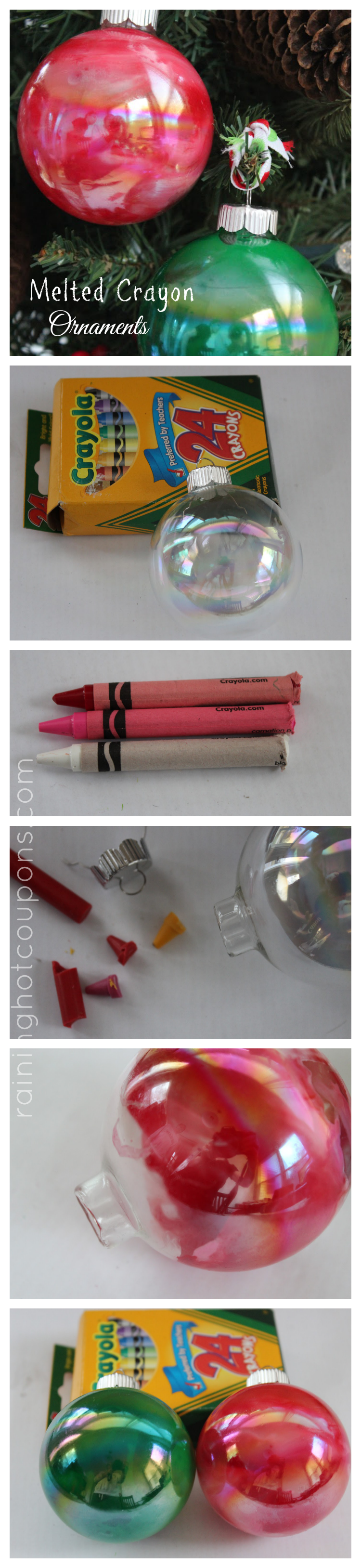 melted crayons collage