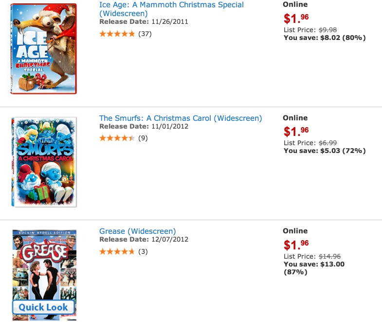 Walmart: TONS of DVDs Only $1.96 (Reg. $15!)