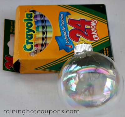 orn Melted Crayon Ornaments