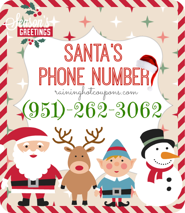 santa Santas Phone Number! (Call Santa!)