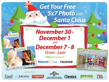 FREE 5X7 Photo with Santa Claus at Walmart!