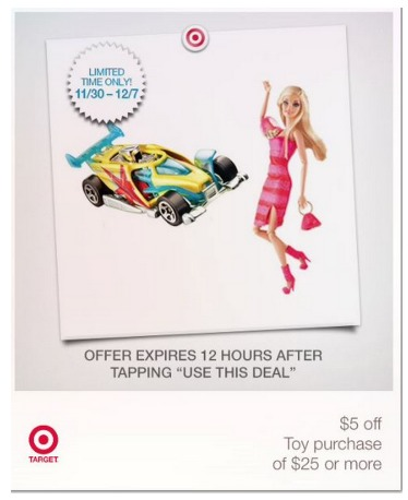 $5 off $25 Target Toy purchase Coupon