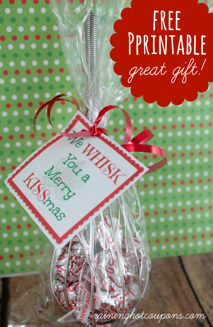 whisk FREE Printable Whisk Label We Whisk you a Merry KISSmas (Cute Gift Idea!)