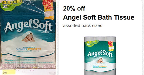 Angel Soft 12 Pack Double Roll Bathroom Tissue Only 0 32