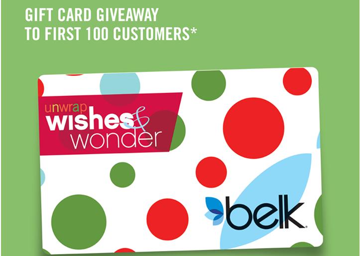 FREE Gift Card at Belk (12/21)