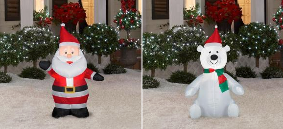 if youve been wanting to snatch up some hot deals on christmas blow ups then hurry over to homedepotcom where you can get these 35 ft - Christmas Blow Ups