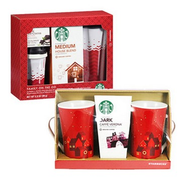 Starbucks Gift Sets (Includes Coffee and Travel Mugs) Only $5!