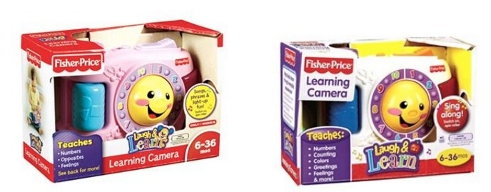 Fisher Price Learning Camera in Pink or White Only $5.43!