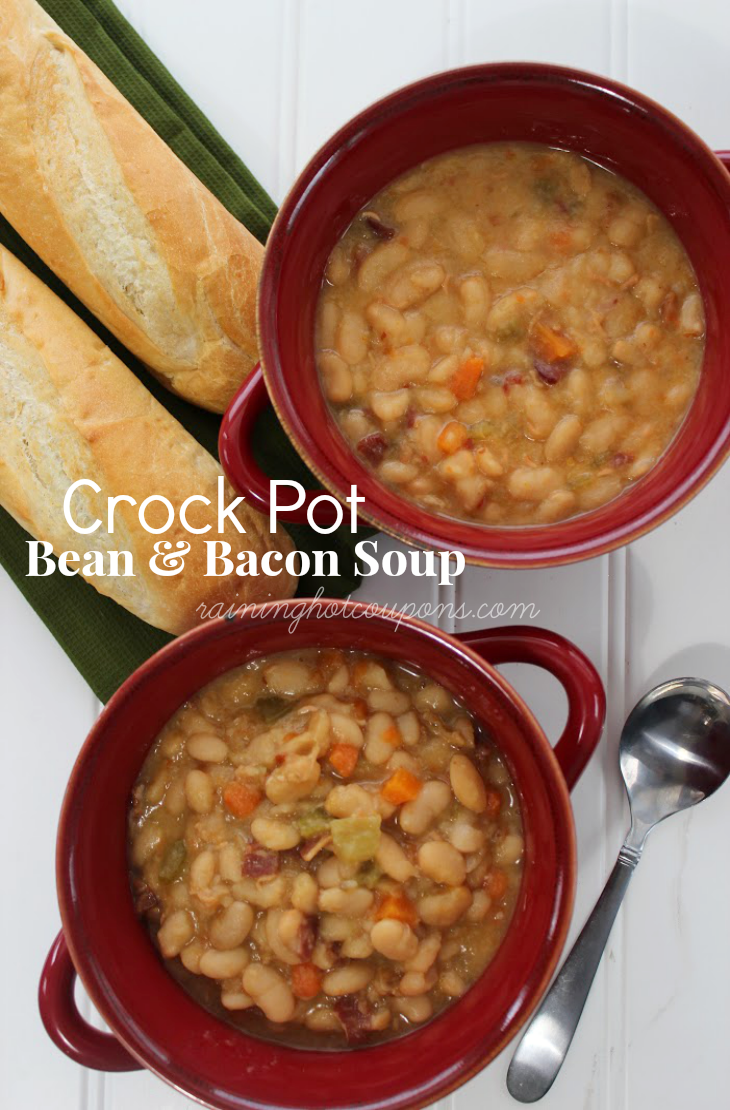 crock POT BEANS SOUP Crock Pot Bean & Bacon Soup