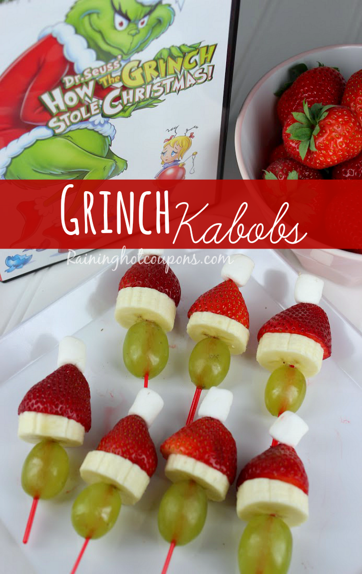 Grinch kabobs recipe get more recipes from raining hot coupons here forumfinder Gallery
