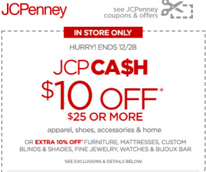 jcpenney coupons 10 off 25 in store