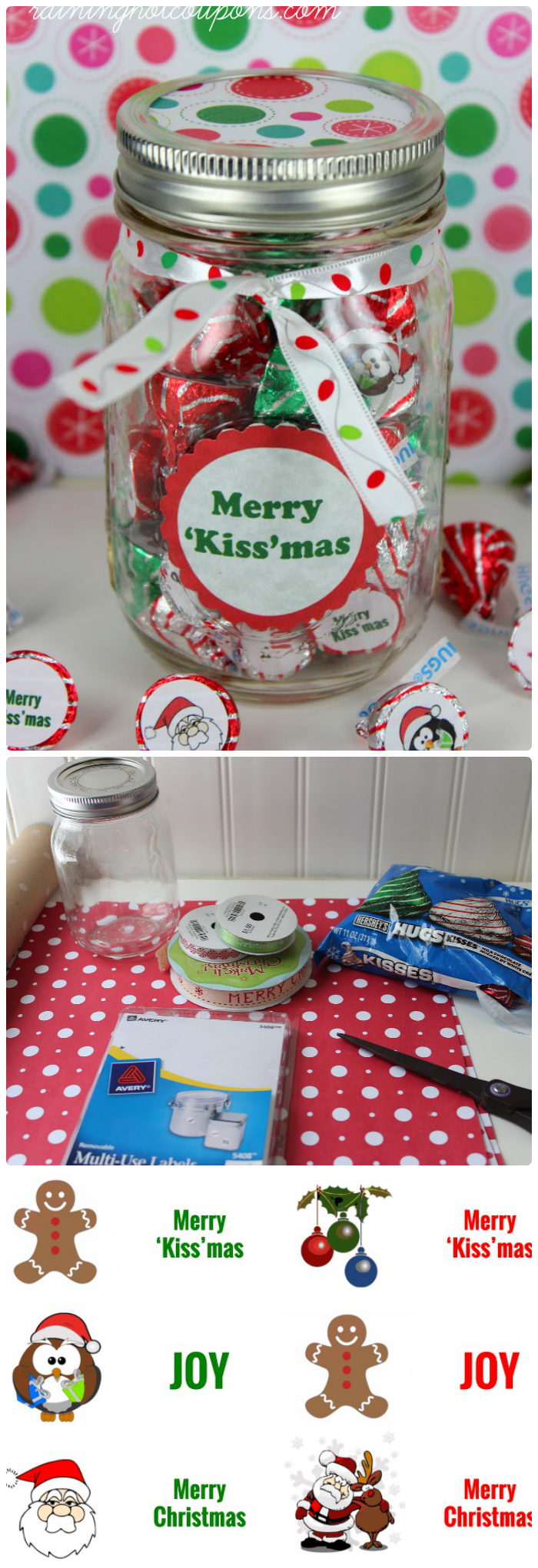 kiss collage Kissmas Gift in a Jar