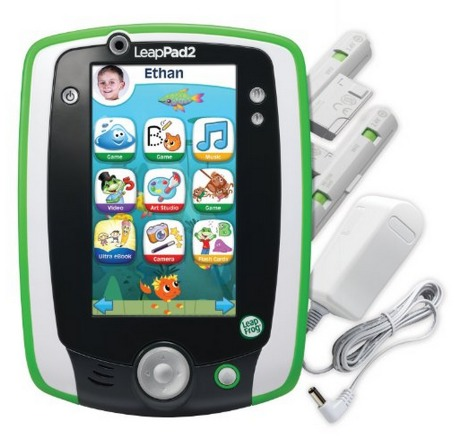 LeapFrog LeapPad2 Power Learning Tablet Green Bundle $59 (Reg. $100) + FREE Shipping!