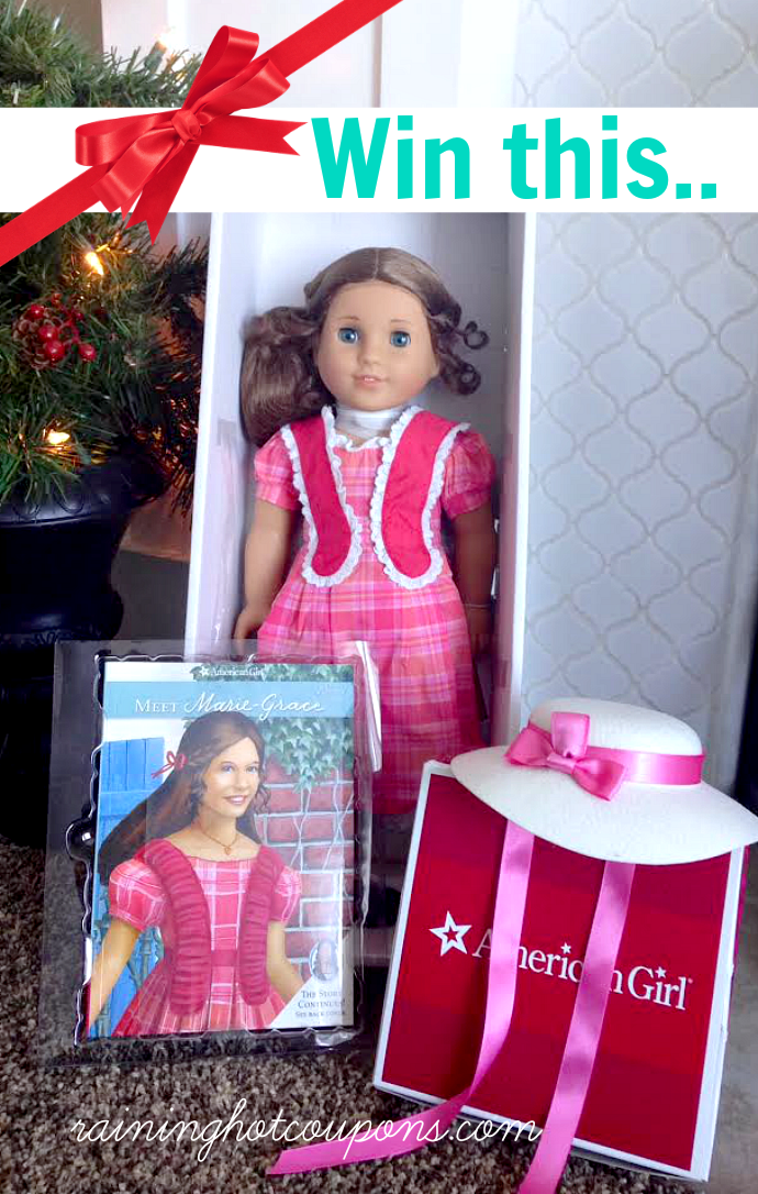 marie Its a Giveaway! Win an American Girl Marie Grace Doll, Hat and Book!