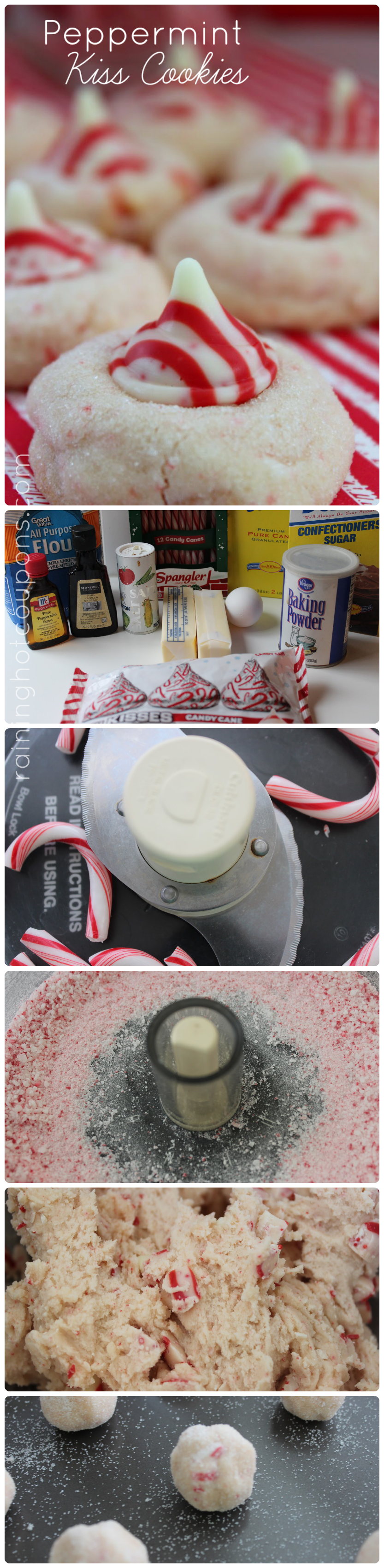 peppermint cookies collage