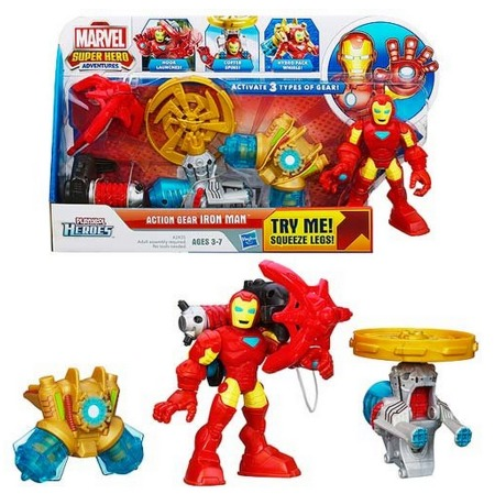 Playskool Heroes Marvel Super Hero Adventures Action Gear Iron Man Figure Only $6.89 (Reg. $16.99)