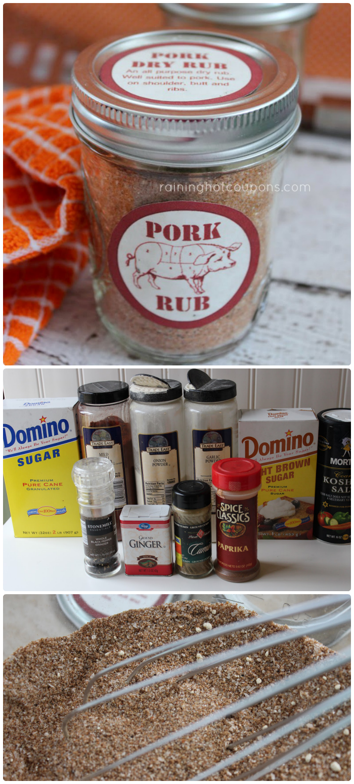 pork rub collage Pork Dry Rub Recipe