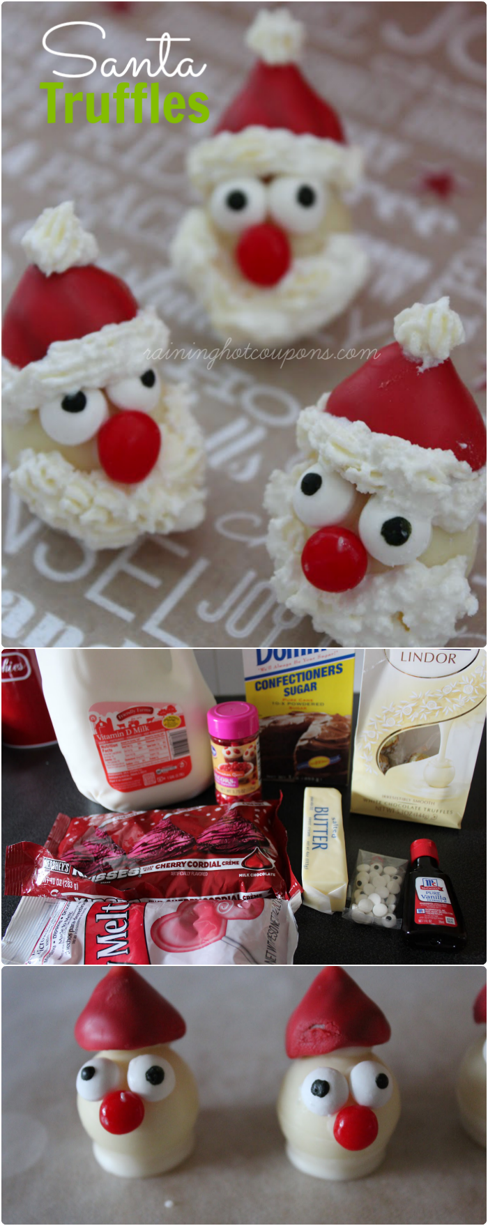 santa truffles collage Santa Truffles Recipe