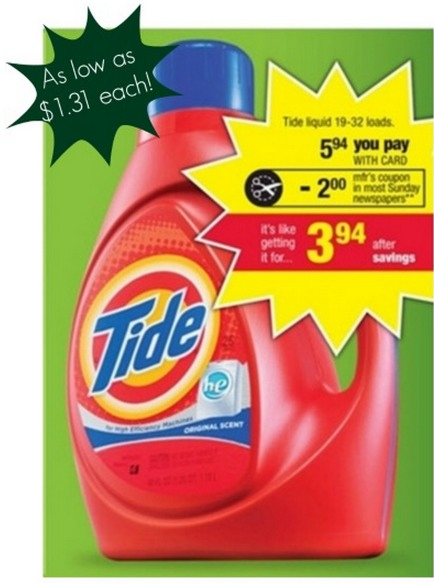 CVS: Tide Laundry Detergent Only $1.31 each!