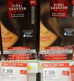 vidal sassoon Target: Vidal Sassoon Hair Color Only $3.49