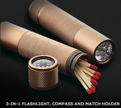 3 in 1 Flashlight Compass and Match Holder Marlboro: FREE 3 in 1 Flashlight, Compass & Match Holder